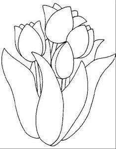 Dibujos Y Plantillas Para Imprimir Dibujos De Flores Para Bordar Tulipanes Dibujo Tulipanes Para Colorear Páginas Para Colorear De Flores