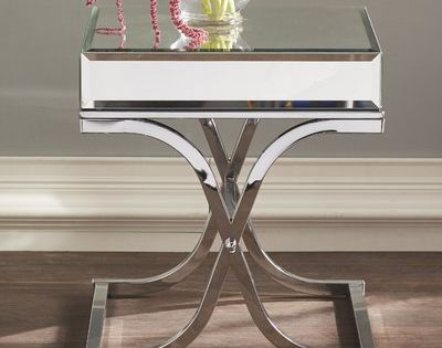 Customer Image Zoomed Mirrored End Table Side Table Glass Top Side Table