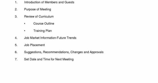 see school templates an Example Of Meeting Agenda Template organized