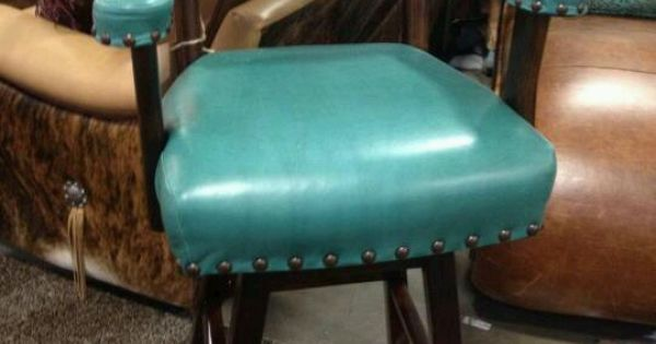 Bar Stool Turquoise Amp Leather Hide Furniture Pieces I