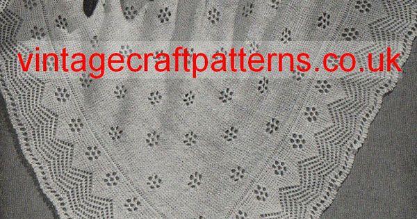 VCP100 Prince George of Cambridge vintage baby shawl knitting pattern PDF K...