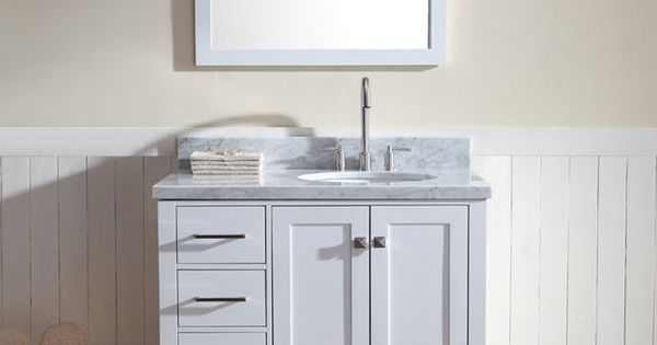 Ariel Cambridge 37 Quot Single Sink Vanity Set W Right Offset