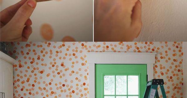 Ingeniosa idea para pintar tus paredes creando tus propios - Utensilios para pintar paredes ...