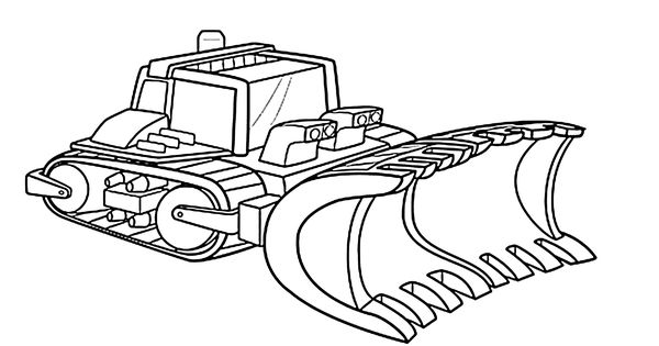 Boulder Constructions Bot Coloring Pages For Kids
