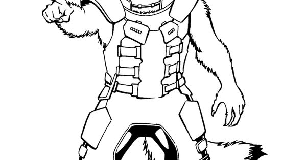 Have Fun Coloring This Amazing Picture Of Rocket Raccoon