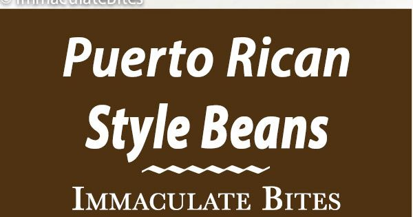 Check out Puerto Rican Style beans. It's so easy to make!   Stew ...
