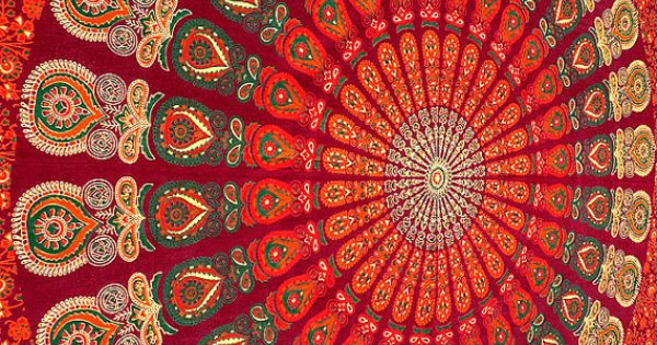 mandala indien hippie tentures de tapisserie suspendue. Black Bedroom Furniture Sets. Home Design Ideas