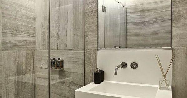 De 73 ideas de decoraci n para ba os modernos peque os for Sonar con cuarto de bano
