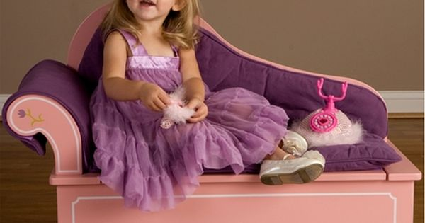 Princess Fainting Bench Seat With Storage Toys
