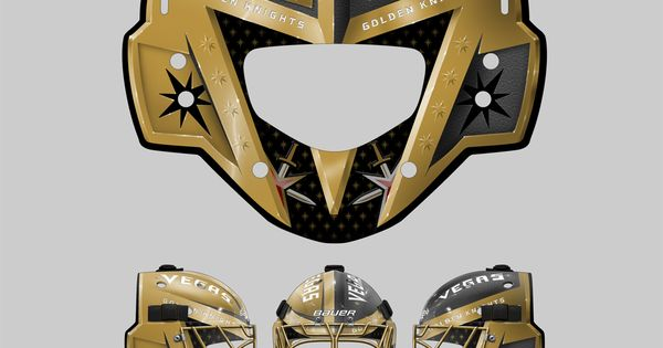 vegas golden knights vegas golden knights goalie gear concept hockey vegas golden knights