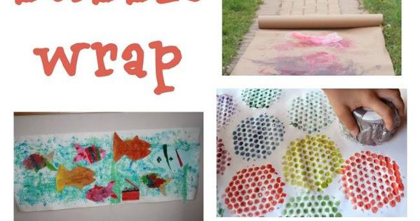 Brilliant bubble wrap crafts kids 39 art and kids 39 games for Bubble wrap art projects