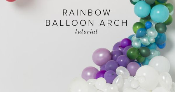 Rainbow balloon arch tutorial the end pots and tutorials for How to make a rainbow arch