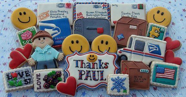 Thanks Postman Paul Cute Cookies Cookie Decorating Mailing