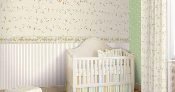 Colecci n infantil para la decoraci n de habitaciones - Cenefa habitacion bebe ...