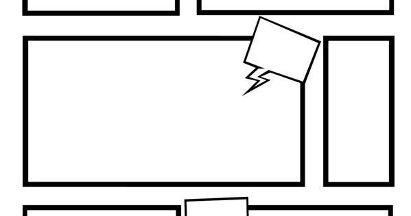 comic strip template on word