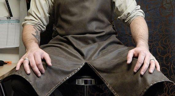 Tablier de forgeron de qualit en cuir aussi bien pour la m canique de cuisine et jeu de r le - Tablier de forgeron ...