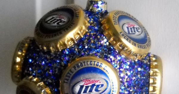 Miller lite beer bottle cap ornament by jennaevesblocks on for Cool beer cap ideas