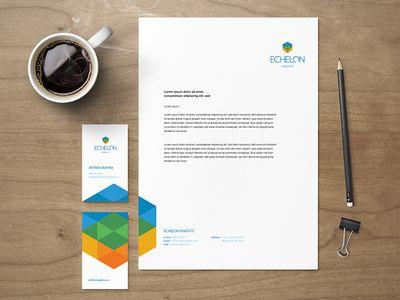 Echelon Identity Letterhead Design Inspiration Letterhead Design Letterhead Examples