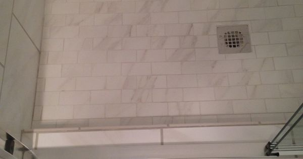 Mirasol Bianco Carrara 2x4 Floor Tile In Matte Bathroom