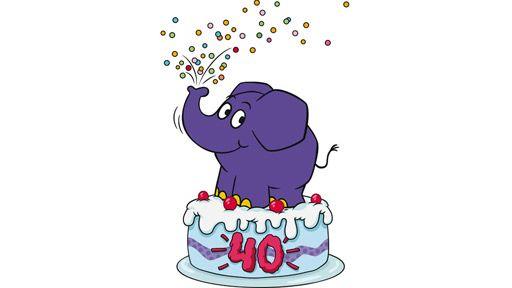 Happy Birthday Auch Von Uns 40 Jahre Kleiner Blauer Elefant Die Welt Elefantastischer Machen Seit 40 Jahren Be Sendung Mit Der Maus Blauer Elefant Elefant