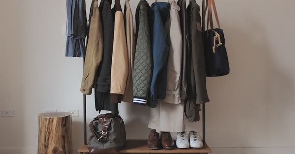 Handmade Coat Rack! I don't have a closet in my new room