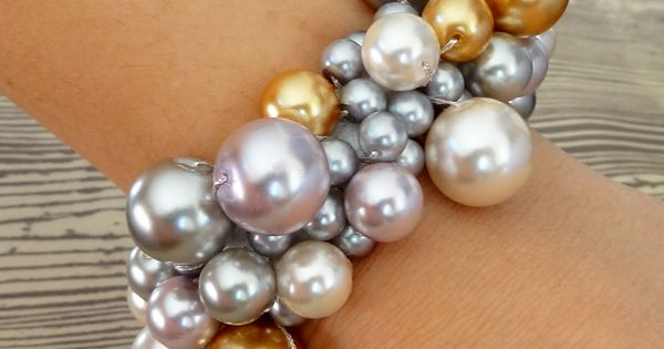 Clustered Pearl Bracelets DIY jewelry