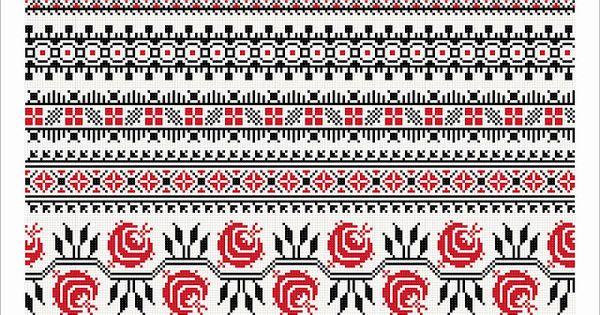Semne cusute romanian traditional motifs romanian traditional embroidery pinterest search - Beautiful romanian folk motifs ...