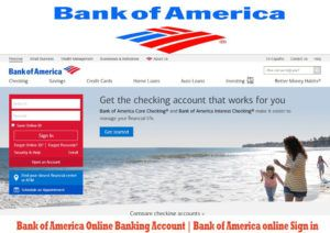 Bank Of America Online Banking Account With Images Bank Of