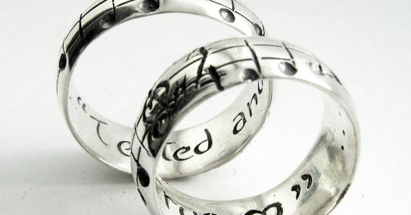 Your Song Wedding Rings - Any Song - One of a Kind