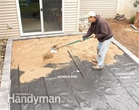 How To Cover A Concrete Patio With Pavers Concrete Patio Makeover Paver Patio Concrete Patio