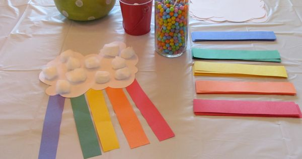 rainbow craft- color treasure hunt craft idea