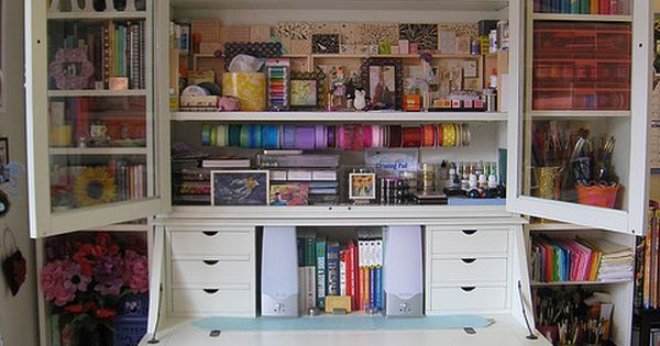 If You Don 39 T Have A Whole Room To Devote To Crafts This Secretary Would Certainly Be A