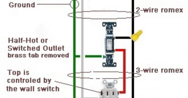 Wiring A Switched Outlet  Also A Half