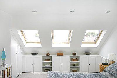Turning Your Attic Into A Bedroom Is A Great Idea Especially For Small Houses We Ve Gathered A Bunch Of Decorating Ideas Loft Conversion Loft Room Loft Spaces