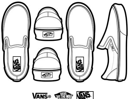 Pair Of Vans Shoes Coloring Pages