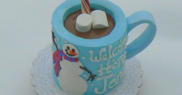 Snowman Hot-chocolate Mug Cake