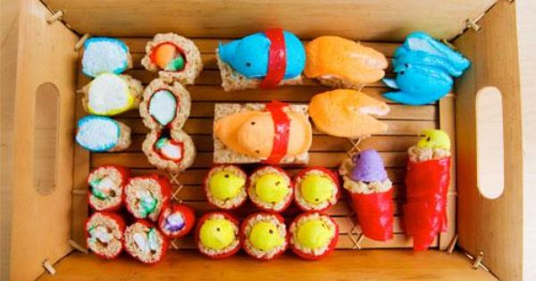 How-To: Peeps Sushi | Sushi, Peeps and Donna D'errico