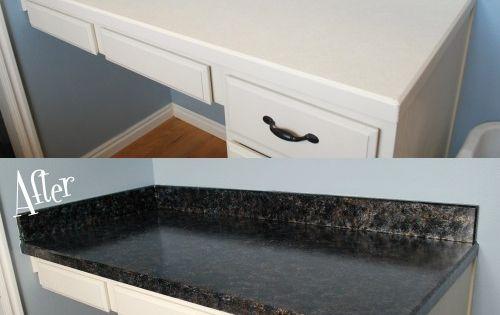 ... Budget Faux granite countertops, Paint countertops and Countertops