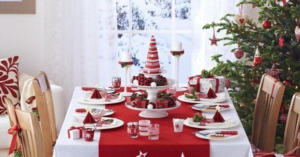 Déco table Noël rouge et blanc - 50 idées  Style, Fes and Tables