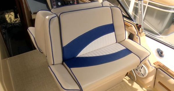 How To Reupholster A Back To Back Boat Lounge Seat Youtube Diy Boat Seats Boat Upholstery Boat Seat Covers