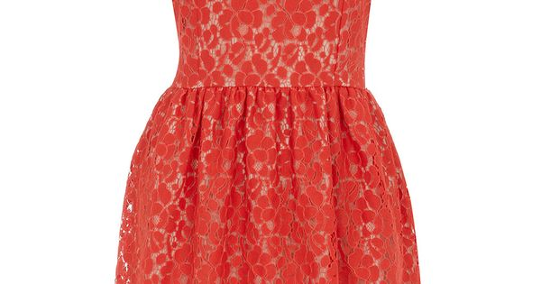 #Quirky vintage lace red collar dress. festive holiday outfit (via @Match Clothing