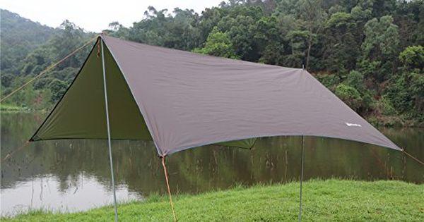 Waterproof Camo Tent Tarp Sheet Canopy Awning Rain Cover Camping Shelters Hiking