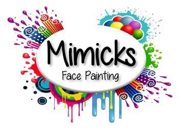 Mimicks Face Painting Logo Painting Logo Face Painting Glitter Tattoo