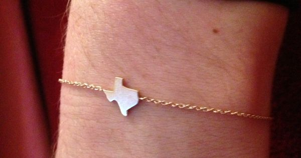 Delicate Texas bracelet...- cute gift idea