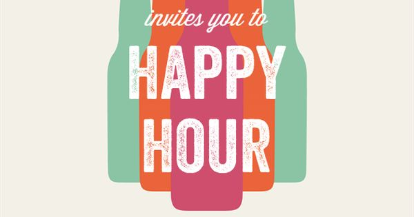 Bottled Happy Hour Invitations In Creme Happy Hour And