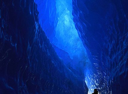 The Blue Tunnel, Queen Maud Land, Antarctica - natural surface & sense