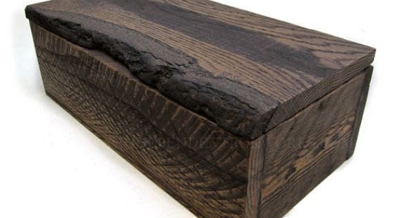 Natural Lidded Rustic Wooden Box Small Wood Memory Box