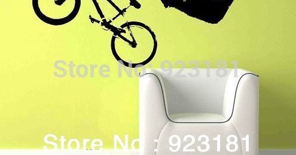 Gar on de v lo bmx g ant wall art sticker autocollant for Decoration murale velo