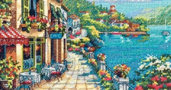 Dimensions Gold Collection Counted Cross Stitch Kit 5 x 7 18 Count Ivory Aida Travel Memories