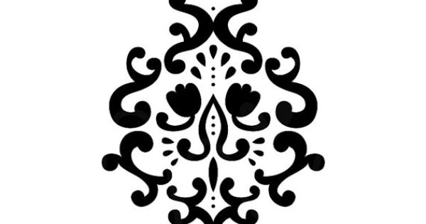 damask 3 svg digital die cut files for cutting by